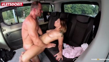 Letsdoeit  Small Czech Teenage Ejaculates Firm In Taxi In Public