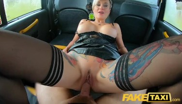 Fake Taxi Russian Brief Haired Tatted Pumping Out Light-haired Mummy Fucked