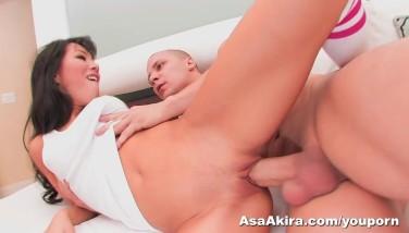 Asa Akira Tears Up A Phat Sausage Hard
