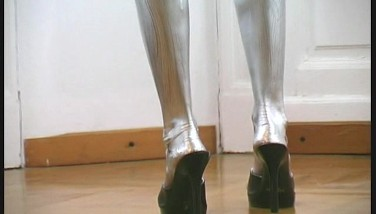 Pornstar Eva Finish Painted In Silver