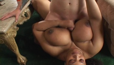 Large And Uber-cute Ebony Woman Drills His Salami With Her Mammoth Tits