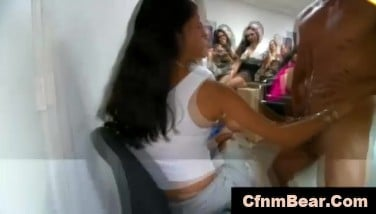 Topless Cfnm Admirer Facialized By Ebony Cfnm Stripper