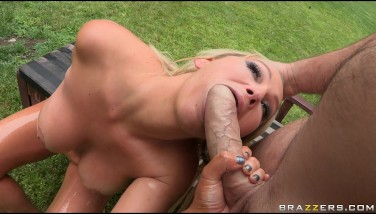 Big Oily Bum And Orb Platinum-blonde Mummy Takes Rectal Booty Fuck