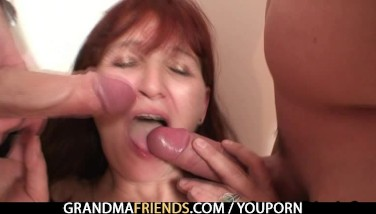 Poker Toying Granny Getting Pulverized By 2 Guys