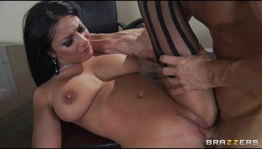 Slutty All-natural Bigtit Brown-haired French Chief Smashed Assfuck In Office