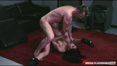 Hot Dark Haired Latina Stripper Selena Rose Penetrates Client's Bigdick