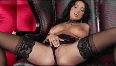 Stunning Underwear Dressed Anissa Kate Takes Off Down Fondles Her Pussy