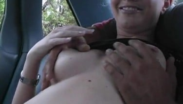 Naughty Teen's Back Seat Blowjob