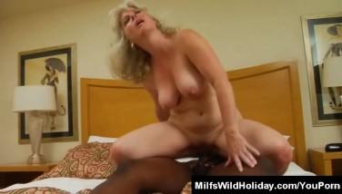 Hot Mummy Stacey Pulverizing A Ebony Stud
