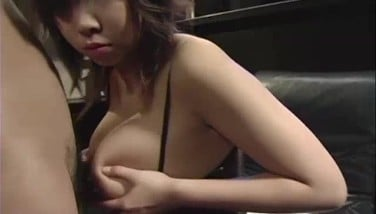Lactating Chinese Lady Wrings A Trouser Snake Inbetween Her Meaty Boobs