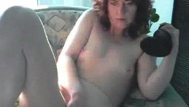 Giant Backside Ass-plug Trussed Into Her Asshole