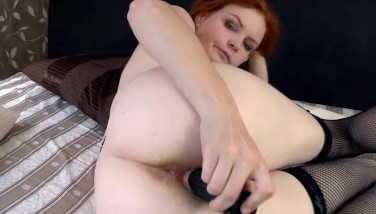 Hairy Florence Thrusts A Faux-cock In Her Fur Covered Crimson Pussy