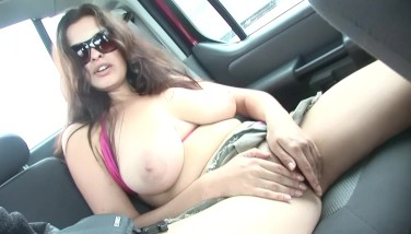 Busty Stunner Plays Around In The Back Of A Car  Dreamgirls