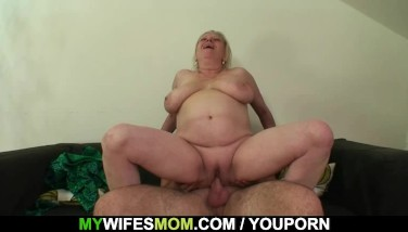 She Finds Her Old Mother Sitting On Her Bf's Dick