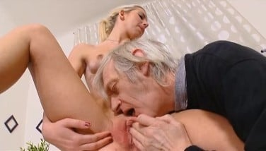 Old Guy Finger-tickling And Fuckin Uber-cute Czech Teen's Asshole