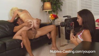 Nubiles Audition  Can Her Taut Teenager Twat Take His Thick Cock