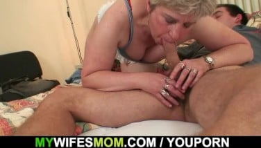 Horny Granny Entices Him But Wifey Finds Out