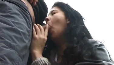 Hard Deepthroat Job On Public Street