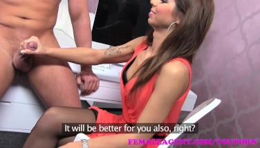 Femaleagent Certain Guy Completes Audition With A Gorgeous Creampie