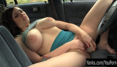 Busty Amber Fucktoy Her Snatch In The Car