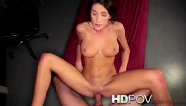 Hd Point Of View Scorching Brown-haired With Gigantic Globes Likes To Juggle On Your Thick Cock