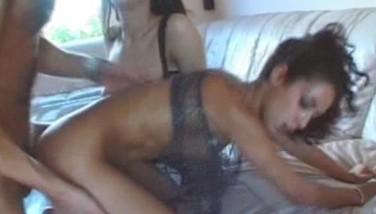 Skinny ebony anal creampied 3cocks!