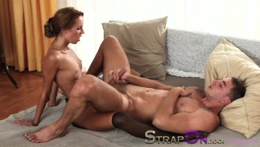 Strapon Gina Devine Penetrating A Dude In The Donk With Belt Cock Cock