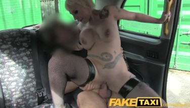 Faketaxi Spanish Ash-blonde With Massive Tits