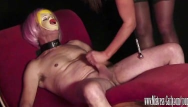 Busty Domme Nails Her Sexdoll Then He Gobbles Jizz Out Her Humid Pussy