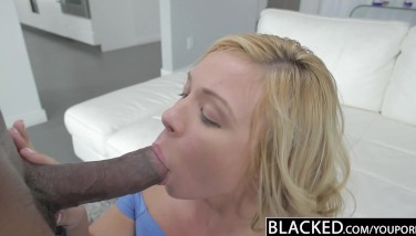 Blacked Sizzling Ash-blonde Teenager Takes Hefty Dark-hued Cock