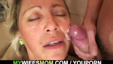 She Finds Him Boning Her Old Mother