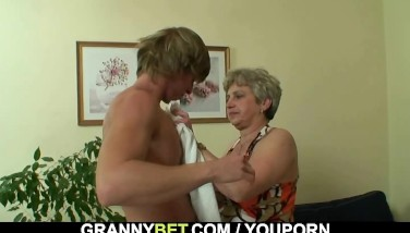 Lonely Granny Deep-throats And Rails His Naughty Cock