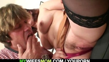 Wife Observes Husband Do Her Old Mother From Behind