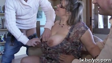 French Mature Julia Gang-fucked In Stockings