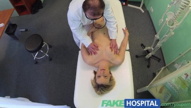 Fakehospital Kinky Mummy Gulps A Stream Of The Superb Doctors Spunk After Some Raging Tearing Up In The Office