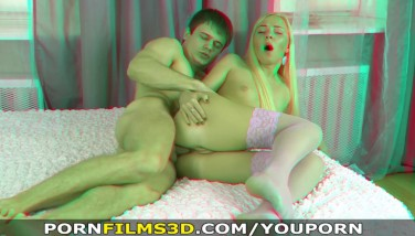 Porn Films 3 Dimensional  Booty-fucked In Rosy Stockings