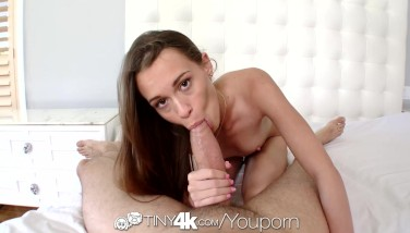 Hd  Tiny4k Teenage Kacy Lane Pushes Gigantic Penis In Her Little Pussy