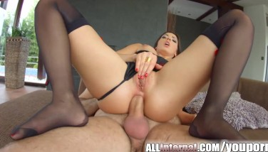 Allinternal Frech Ass Fucking Internal Ejaculation For Brown-haired Stunner