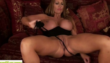 Cougar Leigh Darby Gobbles Ginormous Tits