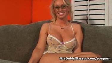 Blonde Trouser Snake Cocksucker Cailey Taylor Got Cum On Her Glasses