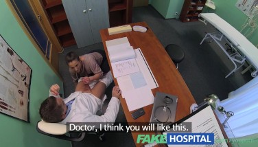 Fakehospital Wild Saleswoman Bashes A Deal With The Sloppy Doctor