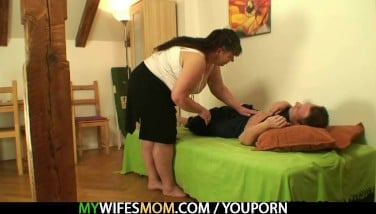 While His Wifey Away He Humps Her Giant Mommy