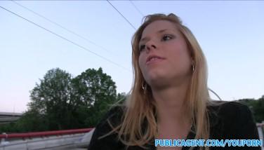Publicagent Torrid Ash-blonde Wants Stranger To Plow Her Outside