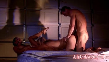 Julia Ann And Jessica Are Roped Ball-gagged And Fucked