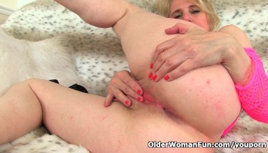 This Brit Granny Is Glad With A High Orgy Drive