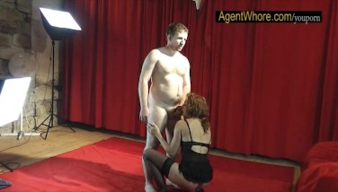 Reversed Audition  Slovak Man Gets Suck Off From Redhead Milf