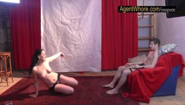18yo Teenage Fellow Gets Very First Striptease From Nasty Milf
