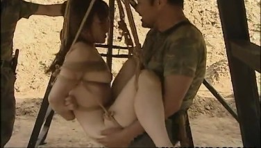 Asian Whore Draping On Some Cords Pulverized By The Soldiers