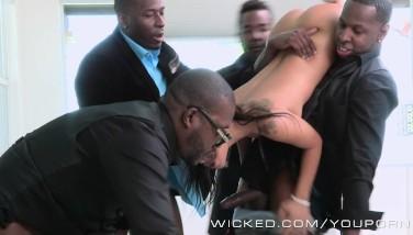Wicked  Asa Akira Takes 4 Bbcs