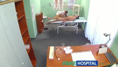 Fakehospital Super-steamy Nurse Paws Patient Before Gargling And Boinking Him